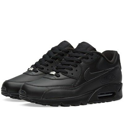 SCARPE SPORTIVE UOMO Nike Air Max 90 Leather 302519 001 nera
