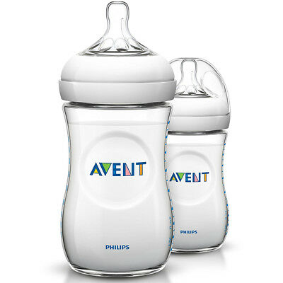 Philips Avent BPA-Free Natural Baby Bottle, 9 oz. - Clear - 2 Pack