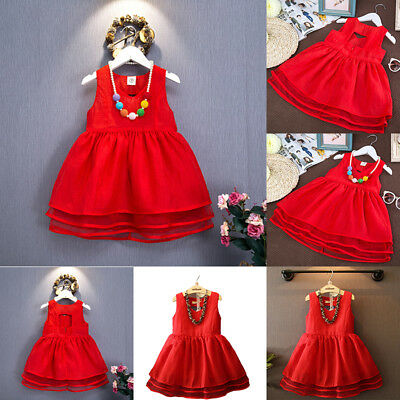 Fashion Girl Kid Baby Princess Dress Backless Tutu Skirt Cotton Soft Slim Party