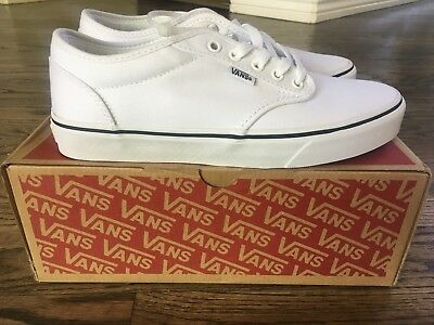 VANS MENS ATWOOD (Black Fox) White White Skate CANVAS SHOES VN00015GIA1 NIB! 556e048a33