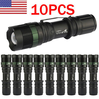 Lot  UltraFire 15000LM Zoomable T6 LED Flashlight Torch Tactical Light Aluminum