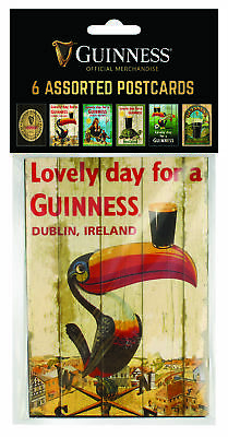 Guinness 6 Assorted Postcard Pack