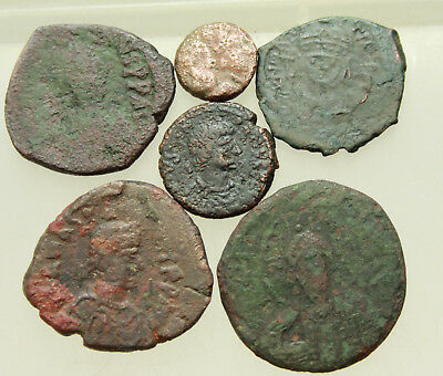 Lot of 6x AE Byzantine Coins D=10-29mm