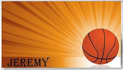 Personalized Checkbook Cover - Basketball