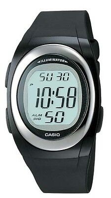 Casio FE10-1A Men's Classic Oval Resin Band Chronograph Alarm LCD Digital Watch