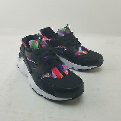 9feb162479297 Nike 704946-003 Kids Huarache Run Print GS Sneakers 4.5Y Black Violet  1583
