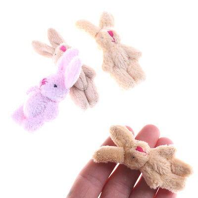 Cute Soft Mini Joint Rabbit Pendant Plush Bunny Toy Doll DIY Key Chain Gifts
