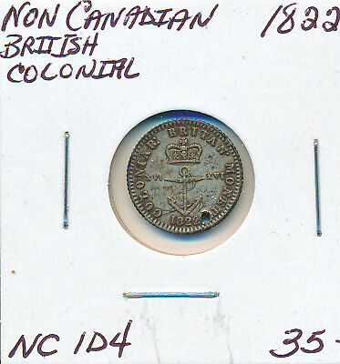 Non-Canadian British Colonial Token Nc1D4 1822