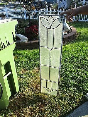 Pair Of Leaded Glass Sidelites 2 Piece Set