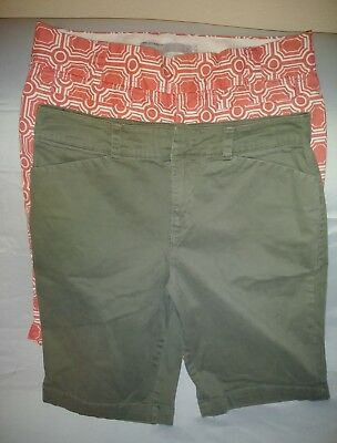 Croft & Barrow Old Navy Womens Shorts Size 6 Walking Bermuda Long Cotton