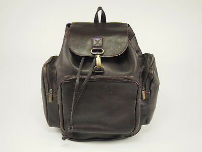 Vintage COLOMBIAN LEATHER Cafe Medium Travel All-purpose Backpack