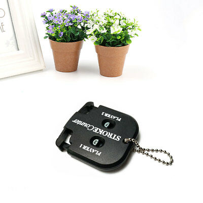 Golf Count Shot Stroke Putt Score Counter Keeper with Key Chain Black
