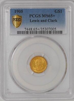 1905 $ Gold Lewis & Clark Dollar #35307005 MS65+ Secure Plus PCGS
