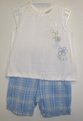 New Girls Summer Outfit 2 Part Set Top & Shorts 1 1/2 - 2 Years Bear Essentials