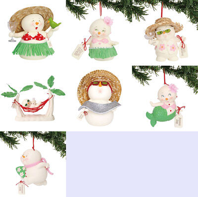 Dept 56 Snowpinions Beach Set Of 7 Figure and Ornament 2018
