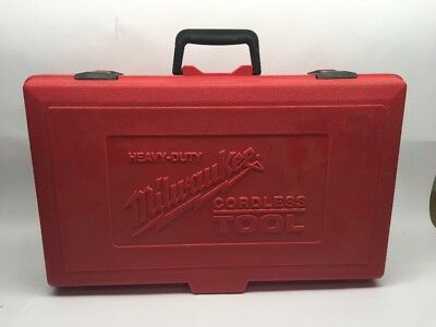Milwaukee Heavy Duty Cordless Tool Hard Plastic Red Case - Case Only!