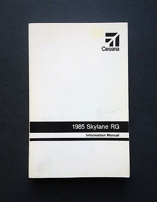 1985 Cessna Skylane RG 182R Information Manual