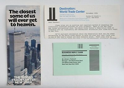 world trade center wtc twin towers brochure pamphlet and observation