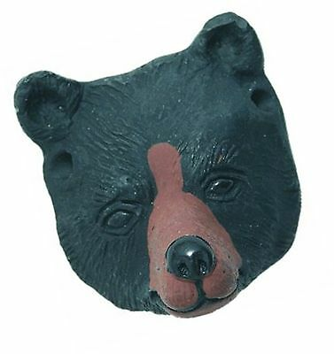 Shipwreck Beads 23 by 27mm Peruvian Hand Crafted Ceramic Bear Face Beads , Bl...