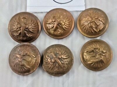 OLD VINTAGE BEAUTIFUL DESIGN UNIQUE LOOK METAL COAT BUTTON 6 PCs COLLECTIBLE