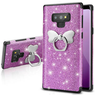 Bling Glitter Sparkle TPU Case Cover Ring Kickstand for Samsung Galaxy S9+ S8 S7