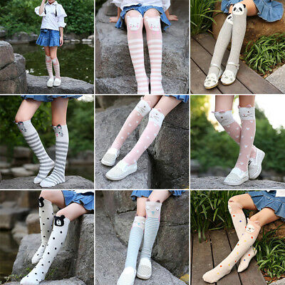 Baby Kids Toddlers Girls Knee High Socks Tights Leg Warmers Stockings Cute New