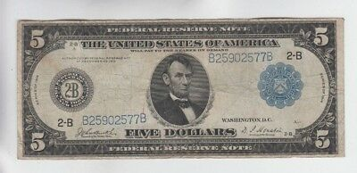 Federal Reserve Note $5 1914 vg-f