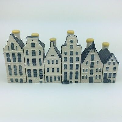 KLM BOLS Delft Blue Houses # 2, 31, 52, 56, 68, 70 Sealed With Liquid