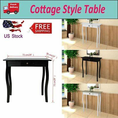 COTTAGE STYLE SMALL Console Table Side End Hall Table Hallway Home - Cottage style console table