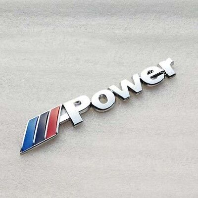 1X3D Emblem badge sticker Car Rear trunk metal decal FIT BMW M-Power M3 M4 M5 M6