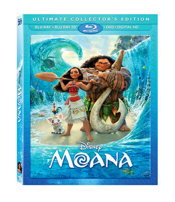 Moana Blu-Ray 3D / Blu-Ray / Dvd - Dwayne Johnson - Alan Tudyk - Disney