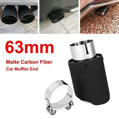 New 63mm-89mm Matte Carbon Fiber Car Exhaust Pipe Tail Muffler End Tip Universal