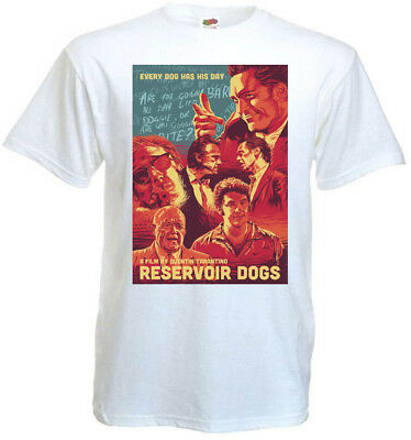 Reservoir Dogs v2 T-shirt white movie poster all sizes S...5XL