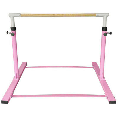 Gymnastics High Bar Beam Hardwood Bars Kid Balance Sport Training Equipment