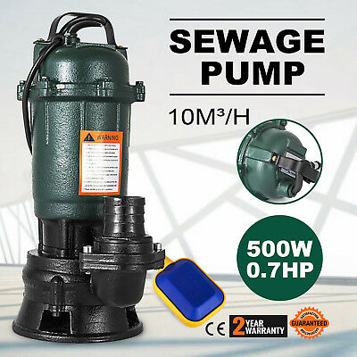 500W Submersible Sewage Dirty Waste Water Pump garden 0.5KW Professional GREAT