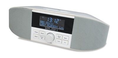 Bush Aurora DAB+/FM Alarm Clock Radio with Bluetooth/NFC/Dual USB (White)