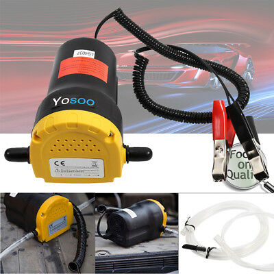 12V 60W Oil Diesel Fluid Extractor Electric Transfer Scavenge Suction Pump Car