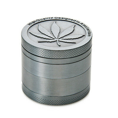 Tobacco Herb Spice Grinder 4 Piece Herbal Alloy Smoke Metal Chromium Crusher SL