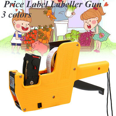 2 Line Price Label Labeller Gun Retail Store Pricing Tag Display + Spare Ink NEW