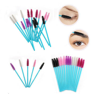 50 Pieces Silicone Head Disposable Mascara Wands Eyelash Brushes Lash Extention