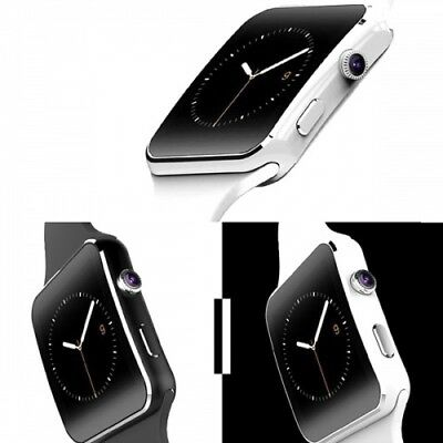 Smartwatch X6 Bluetooth Uhr Curved Display iOS Android Samsung iPhone HTC Huawei