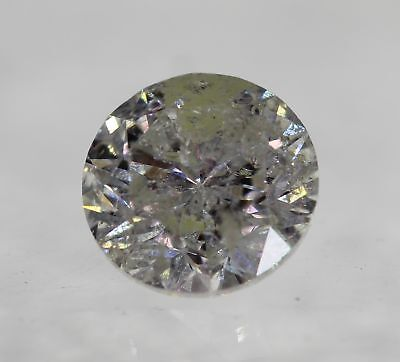 Certified 0.79 Carat H Color Round Brilliant Enhanced Natural Diamond 5.72mm 3VG