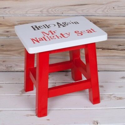 The Naughty Seat Stool Hello again Mr Naughty Seat Painted wood Bright Side New