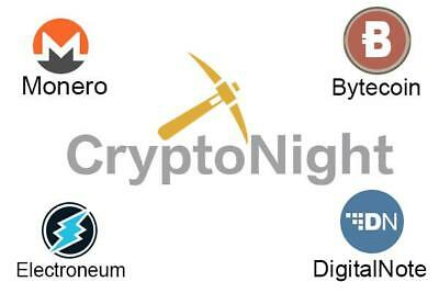 CryptoNight 550h/s Mining Contract - 24 Hours