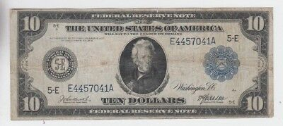 Federal Reserve Note $10 1914 fine