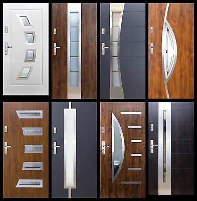 Modern Composite Front Entrance Door Anti Theft Safety 100 13s4