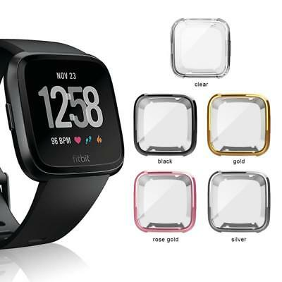 For Fitbit Versa Silicone Protective TPU Shell Case Screen Protector Cover Xmas