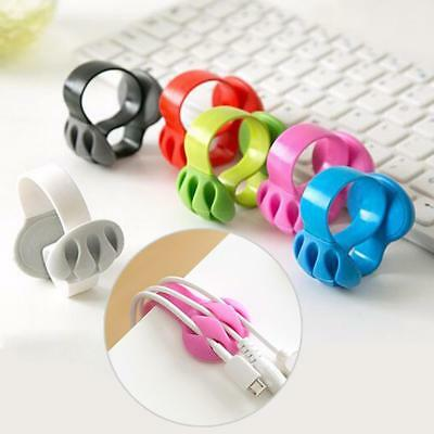 Desk Tidy Organiser Cable Drop Clip Wire Cord Lead USB Charger Holder Fixer SalG