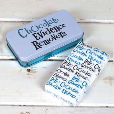 Tissue Tin CHOCOLATE EVIDENCE REMOVERS & matching tissues Hankerchief New