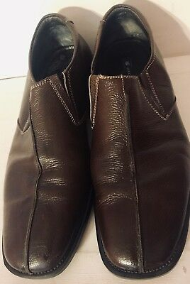 32a6cdc1da8 Bachrach Genuine Brown Leather Men s Slip On Loafers Size 8.5 M Made In  China